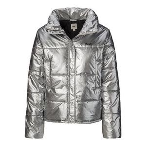 Vans Galactic Spiral Metallic Silver Puffer Jacket